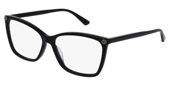 Ženska korekcijska očala Gucci kvadratna oblika, plastična. Optika Zajec
