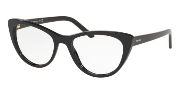 Korekcijska očala Prada cat-eye oblika in črna barva. Optika Zajec.