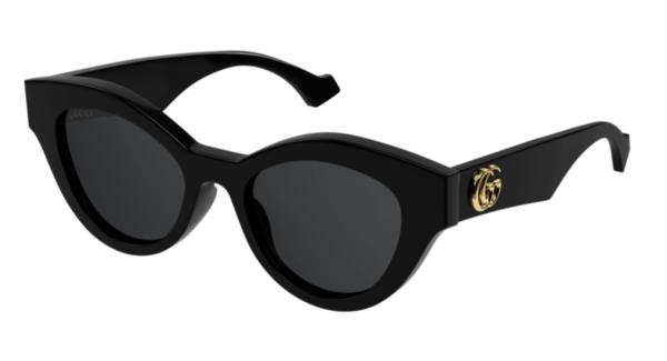 Sončna očala Gucci za ženske cat-eye oblike in črne barve, optika Zajec