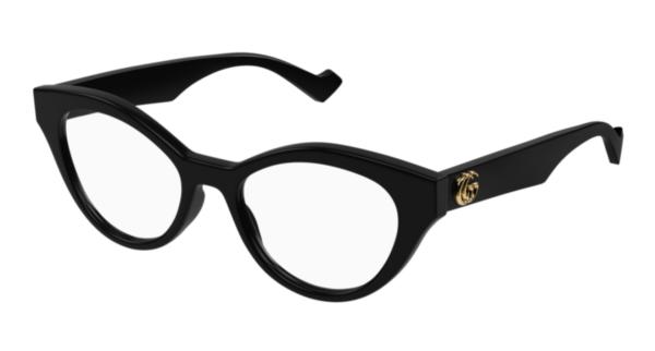 Ženska korekcijska očala Gucci cat-eye črne barve na optika Zajec