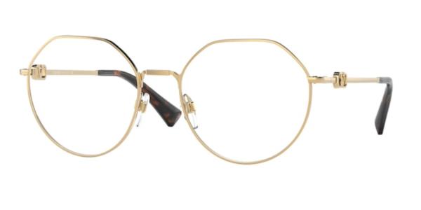 Ženska Valentino korekcijska očala zlata in okrogla na optika Zajec.