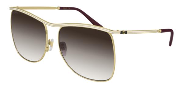 Ženska sončna očala Gucci oglata in kovinska obroba, optika Zajec