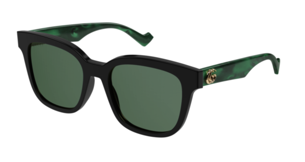Ženska sončna očala znamke Gucci z okvirji mačje oblike,zelena. Optika Zajec.